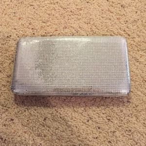 NWOT. Silver sequin wallet