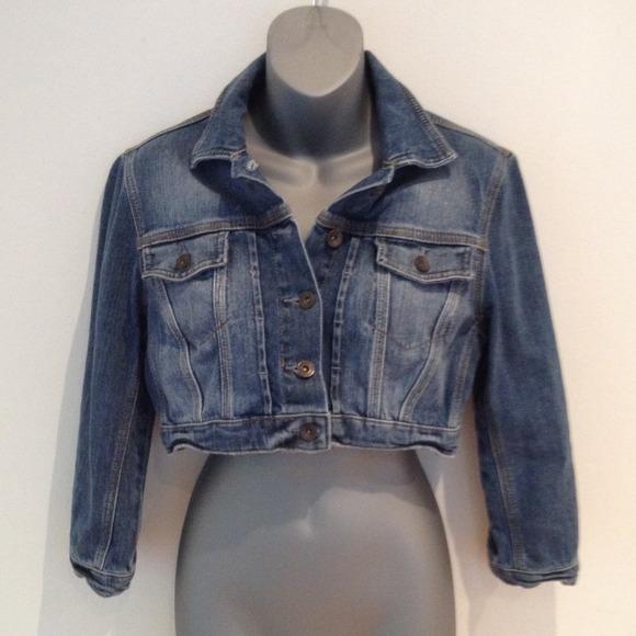 bba0493bc3958 Topshop Jackets & Coats | Moto Cropped Denim Jacket | Poshmark