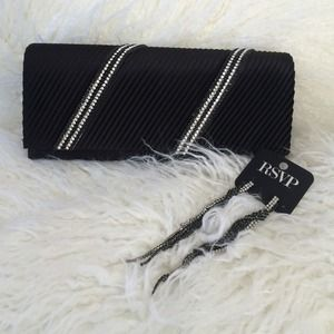 Clutches & Wallets - Black & White Night Out Tuxedo Chic