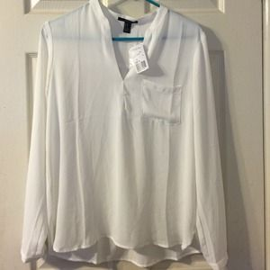 White Woven Top Brand New