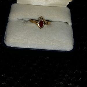 Jewelry - Diamond and Ruby ring