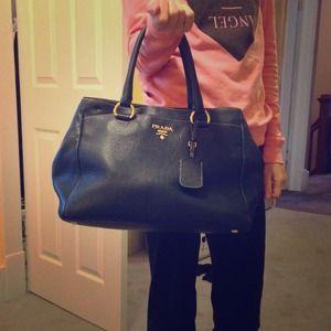 62% off Prada Handbags - Navy blue Prada bag from Kerrin\u0026#39;s closet ... - prada galleria bag light blue