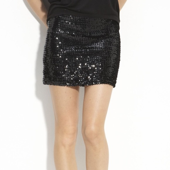 Urban Outfitters - Black Sequin Mini Skirt from Crystal's closet ...