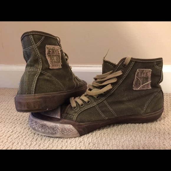 Frye Shoes Mens Green Tall Lace Sneakers Poshmark