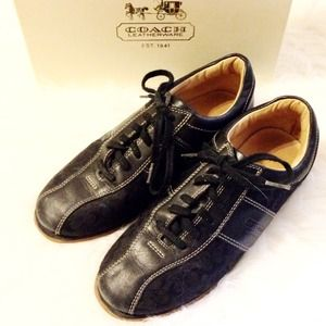 Coach Shoes - Authentic Coach Signature Sneakers Black