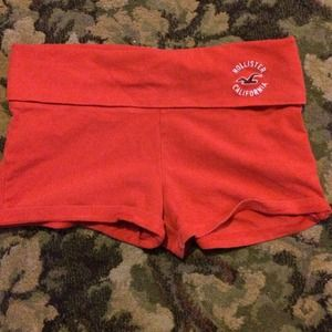 Red athletic shorts
