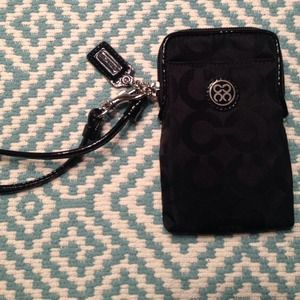 SOLD Coach wristlet for phone / wallet