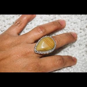 handmade & handcrafted gemstone jewelry Jewelry - ✂️Sale✂️ Lovely Jasper Statement Ring Size 8