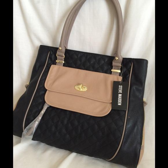 56% off Steve Madden Handbags - ❤️SOLD❤ Steve Madden XL Black ...