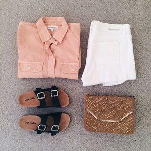 ⬇️ Madewell • Light Orange Shirt