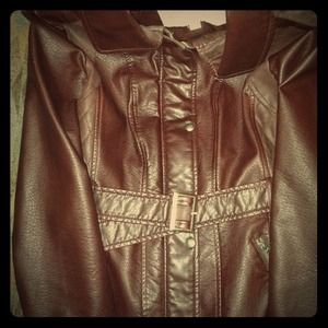 Jessica Simpson leather jacket