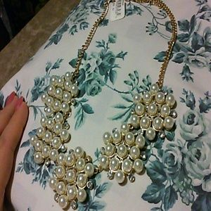 Pearl gold short necklace