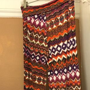Pants - Multicolored and pattern pants