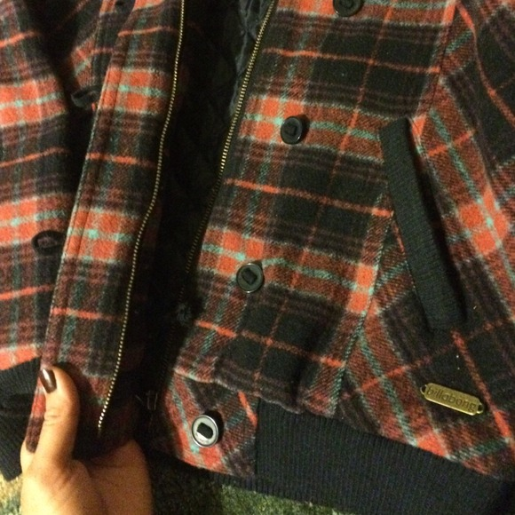 59% off Billabong Jackets & Blazers - Billabong Red Plaid