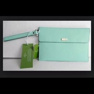NWT, Kate Spade Mint Green Clutch/Case!
