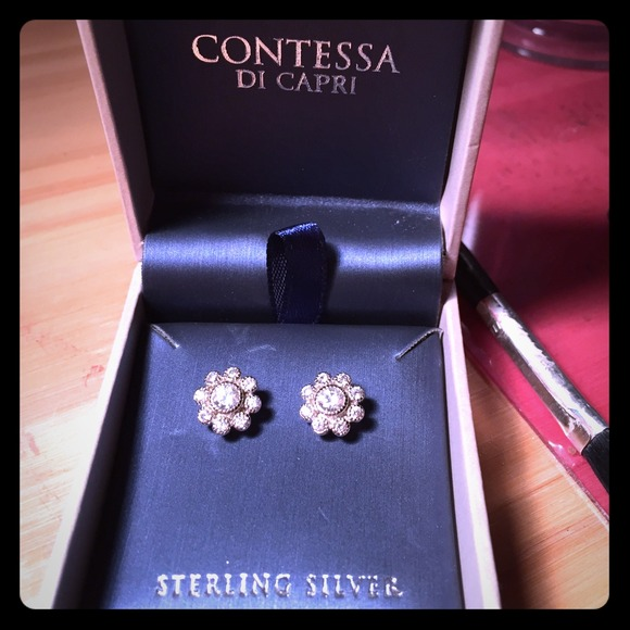 18f8f545b Contessa Di Capri Jewelry | Sterling Silver Earrings | Poshmark