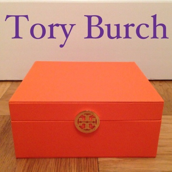 Tory Burch Other Authentic Orange Jewelry Box New Poshmark