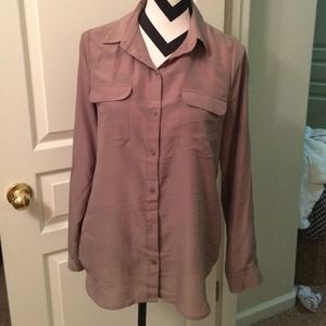Old Navy Tops - Tan semi- sheer button up blouse