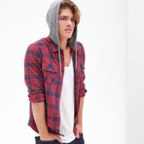 a22c7453da8 Brand new forever 21 men s flannel hoodie jacket