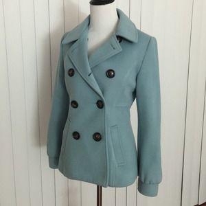 Outerwear - Light Blue Pea Coat / Jacket