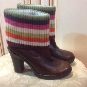 NEW.  Coach platform boots