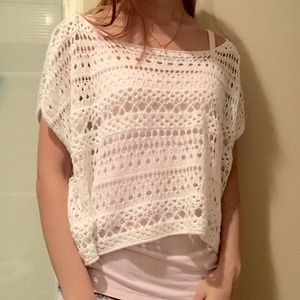 Vanilla cream color one size yarn sweater