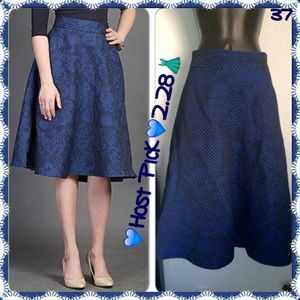 eShakti Dresses & Skirts - 💸HP SALE Final💸NEW 50's Quilted Jacquard Navy