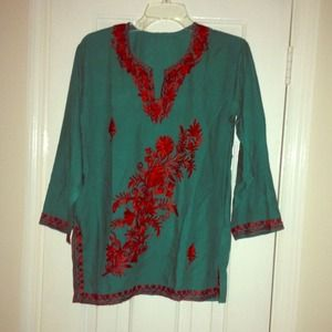 Embroidered Indian top