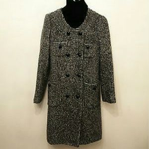 DVF tweed coat size  s/m