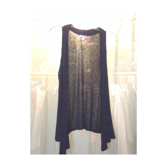 Woman's Black Vest 1X