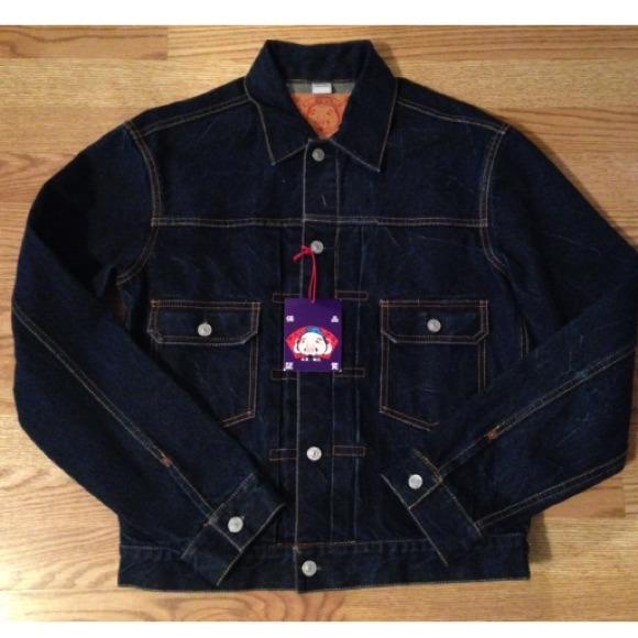 baea15288fc2 ✨SALE Brand New Evisu Mens Designer Denim Jacket