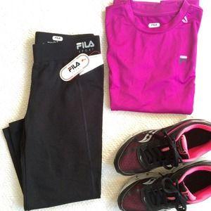 FILA Sport Cropped Workout Pants New XS
