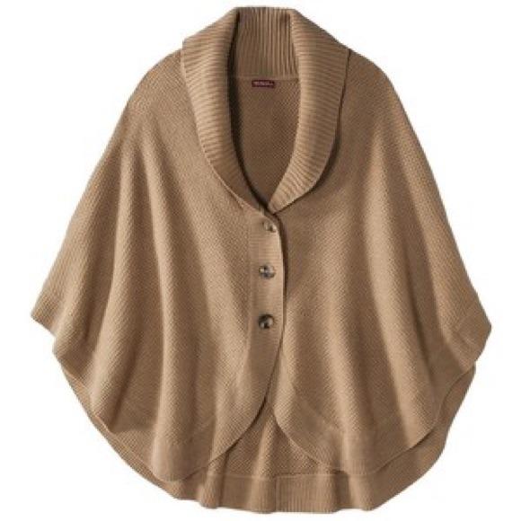 80% off Debbie Morgan Outerwear - Super Cute! Beige Poncho Sweater ...