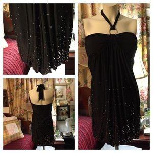 Taboo Dresses & Skirts - Black Halter-Like Embellished Dress ~ TABOO