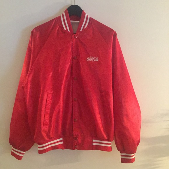c611c0cb2 Coca Cola red bomber jacket