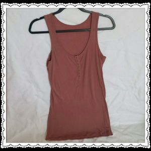 Red brown tank top