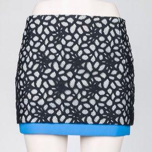 DVF Elley shadow dot lace mini skirt ($50)
