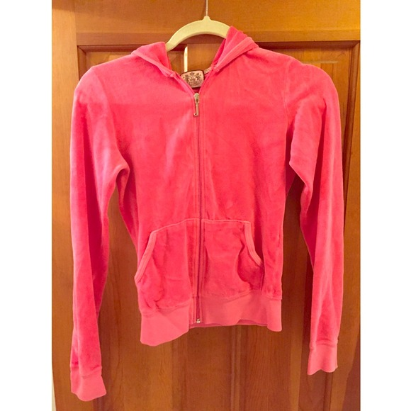 8997b78ad7 Juicy Couture Sweaters - Juicy Couture Hot Pink velour hoodie. Small.