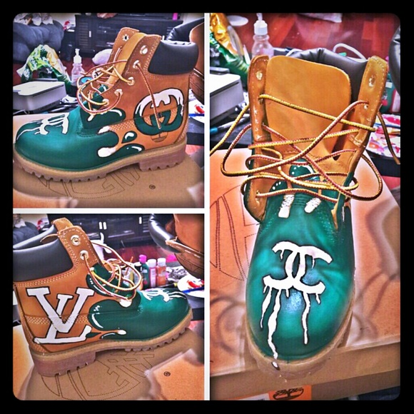 Customized Timberlands With Spikes Boots Custom Timberland