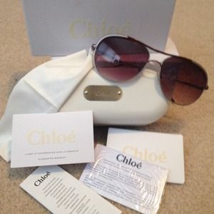 chloé aviator sunglasses