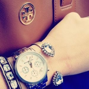 Michael Kors dual tone watch