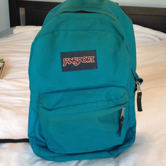 Turquoise Blue Jansport Backpack OS from Jackie's closet on Poshmark