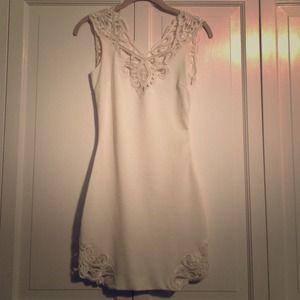 Beautiful lace back white dress