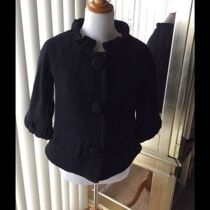Marc by Marc Jacobs black crop swing jacket