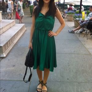 Bella Dresses & Skirts - Silk green dress
