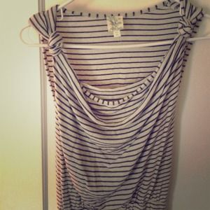 Anthropologie draped, stripe dress