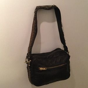 Made Her Think Handbags - Made Her Think Black Leather Satchel