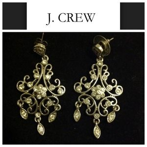 Jcrew crystal chandelier earrings