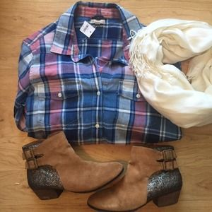 GAP Dresses & Skirts - ❌ SOLD ❌Western Plaid Shirt Dress