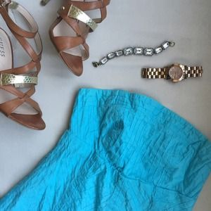 GAP Dresses & Skirts - Turquoise strapless dress